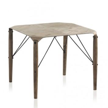 Mesita auxiliar 60x49cm estilo nórdico madera de abeto