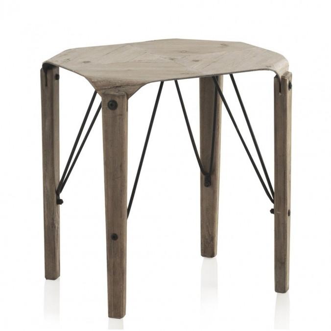 Mesita auxiliar 40x42cm estilo nórdico madera de abeto
