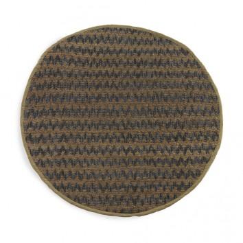 Alfombra espiga redonda 120cm yute y algodón