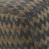 puff espiga cuadrado 45x35cm yute y algodón