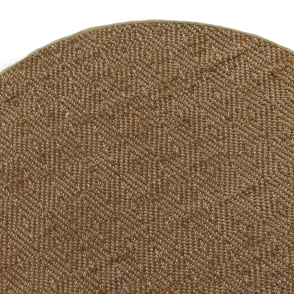 Alfombra dise o rombo redonda 120cm yute y algod n erizho for Alfombra yute barata