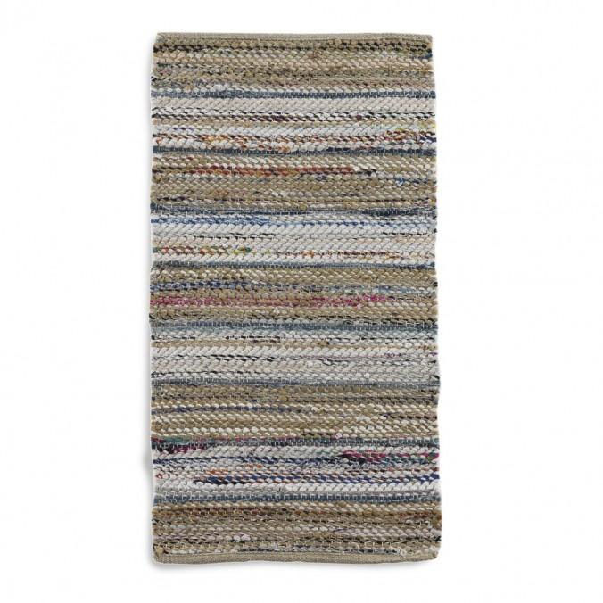 Alfombra multicolor 60x120cm yute y algodón
