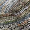 Puff cuadrado multicolor 45x35cm yute y algodón