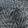Puff cuadrado azul 45x35cm yute y algodón