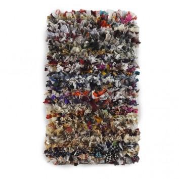 Alfombra trapillo multicolor 60x120cm yute y algodón