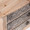 Mesilla 52x35cm metal repujado y madera