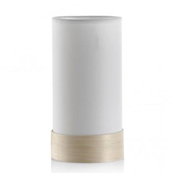 Lámpara de mesa con pantalla 13x26cm blanca