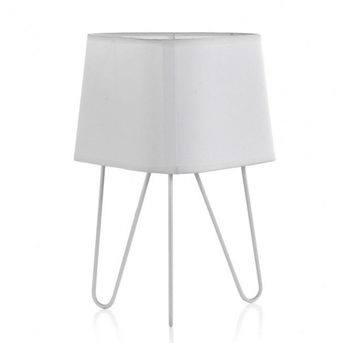 Lámpara de mesa 3 patas con pantalla 24x34cm blanca