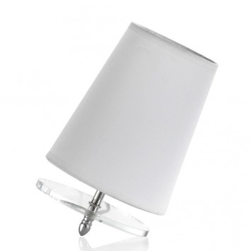 Lámpara de mesa inclinada con pantalla 15x23cm