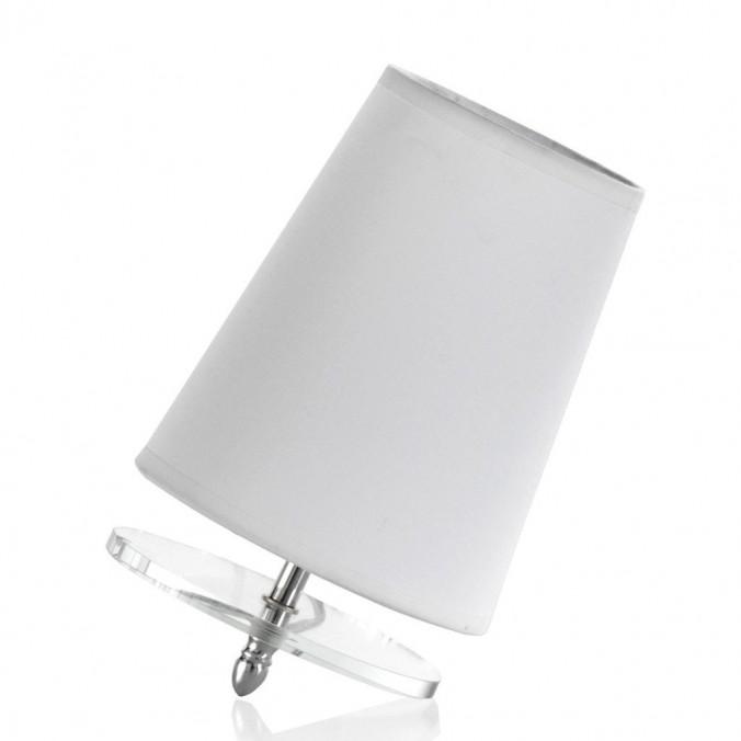 Lámpara de mesa inclinada con pantalla 15x23cm blanca