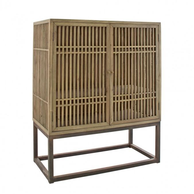 Armario estilo oriental 120x152cm madera de olmo