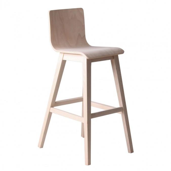 Silla alta estilo n rdico madera de haya maciza erizho for Sillas de escritorio altas