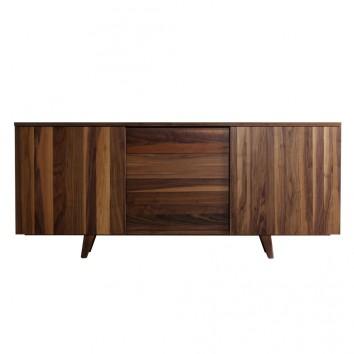 Buffet 210cm diseño contemporaneo en madera de nogal