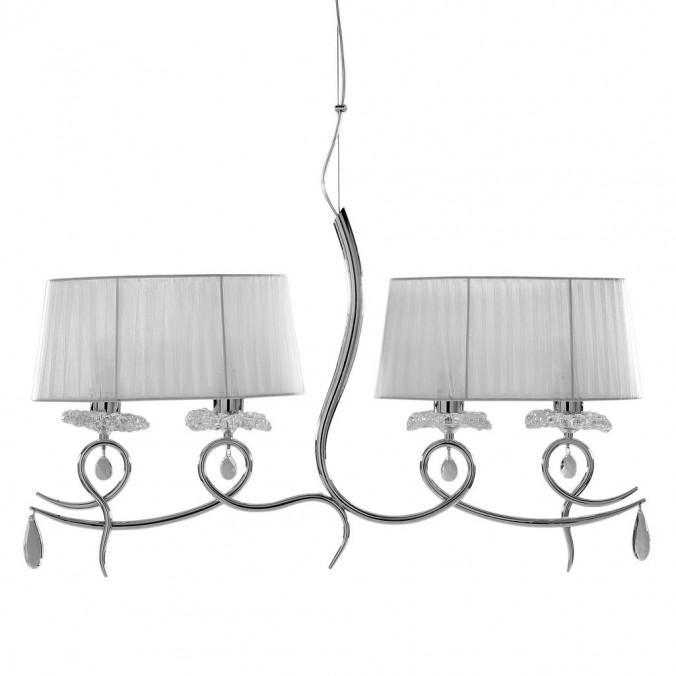 Lámpara de techo lineal 4 luces clásico romántico