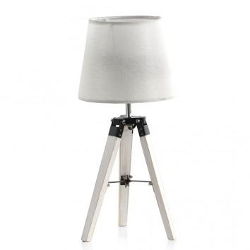 Lámpara de mesa tripode con pantalla 21x46cm