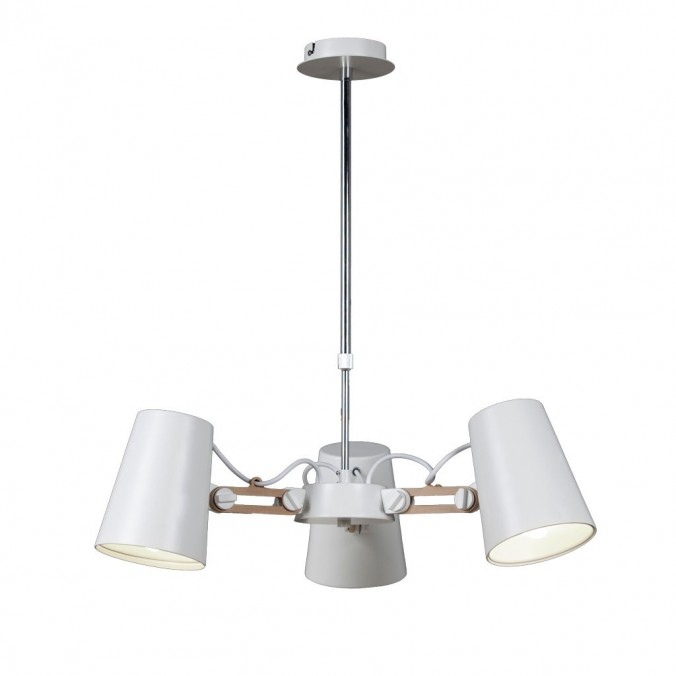 Lámpara de techo 3 luces estilo escandinavo