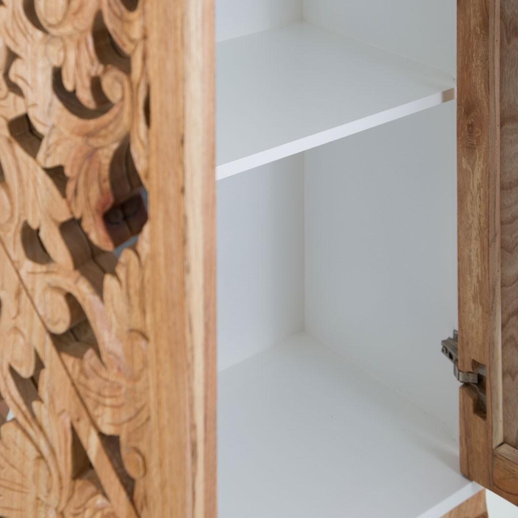 Adesivo De Francesinha ~ Armario estilo oriental blanco 100x140cm madera de mindi Erizho