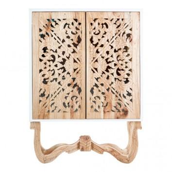 Armario estilo oriental blanco 100x140cm madera de mindi