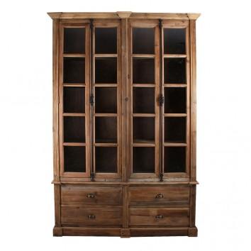 Vitrina estilo colonial 168x240cm madera de pino