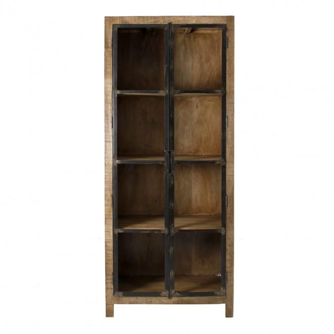 Vitrina estilo industrial 90x210cm madera de mango