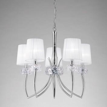 Lámpara techo 5 luces 66cm burbujas de cristal