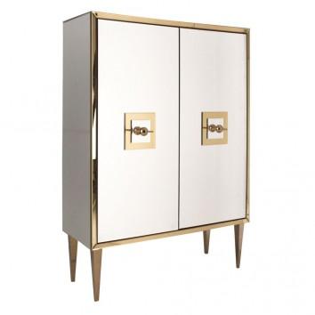 Armario estilo art decó 110x150cm oro y espejo