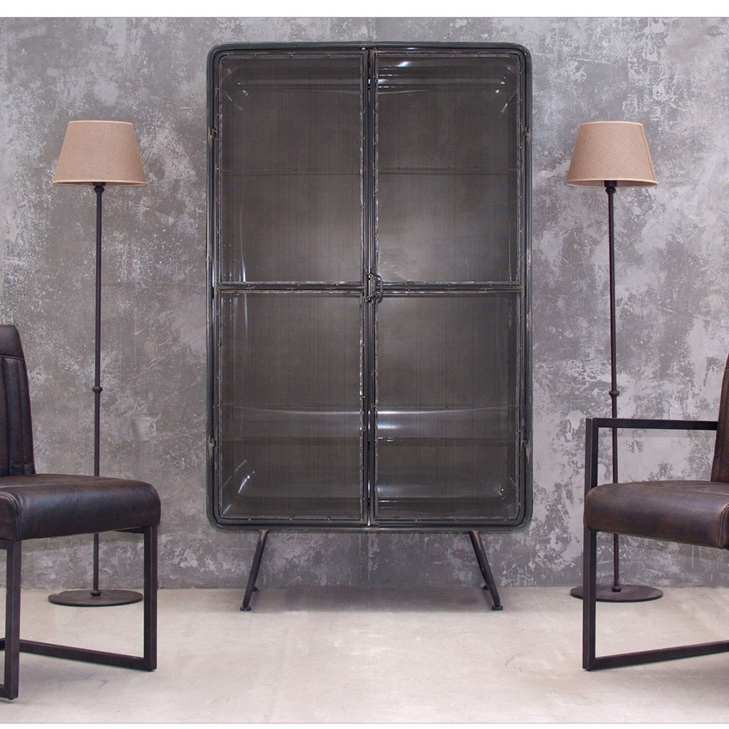 Armario estilo industrial 100x175cm hierro erizho for Mueble 25 cm ancho