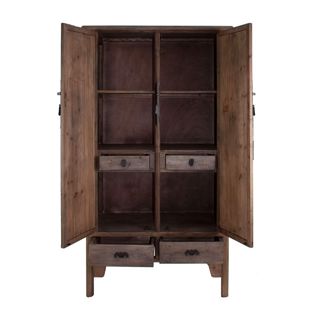 Armario estilo oriental 100x190cm madera de pino erizho - Madera de pino ...