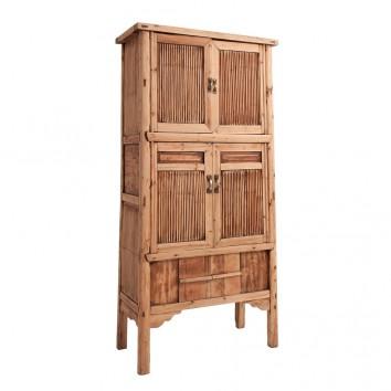 Vitrina estilo oriental 87x175cm madera de ciprés