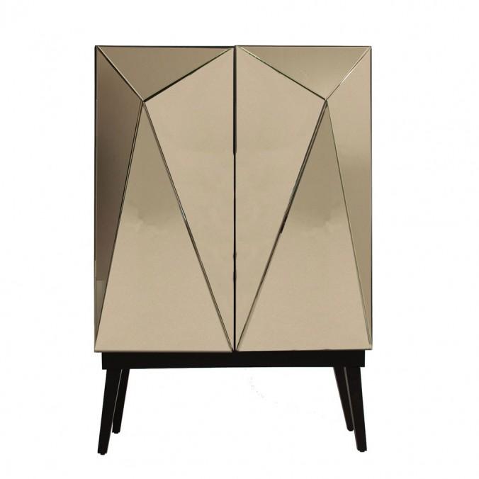 Armario estilo art decó 95x142cm oro y negro