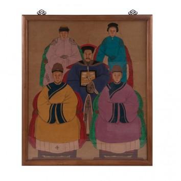 Cuadro estilo oriental 91x106cm multicolor