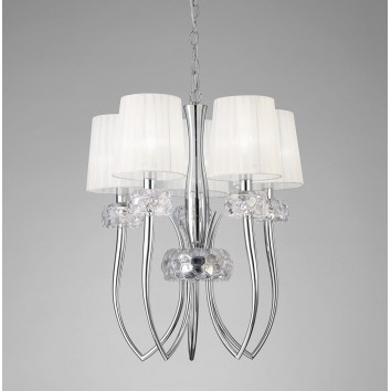 Lámpara techo 5 luces 50cm burbujas de cristal