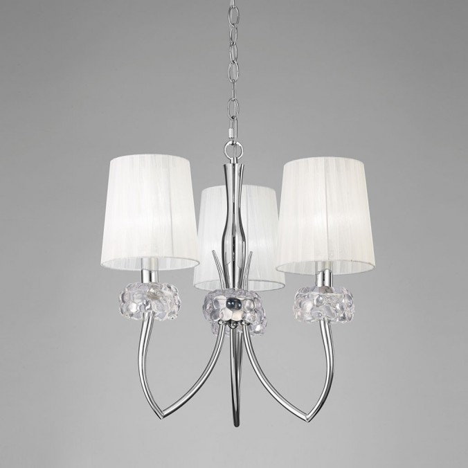 Lámpara techo 3 luces 50cm burbujas de cristal