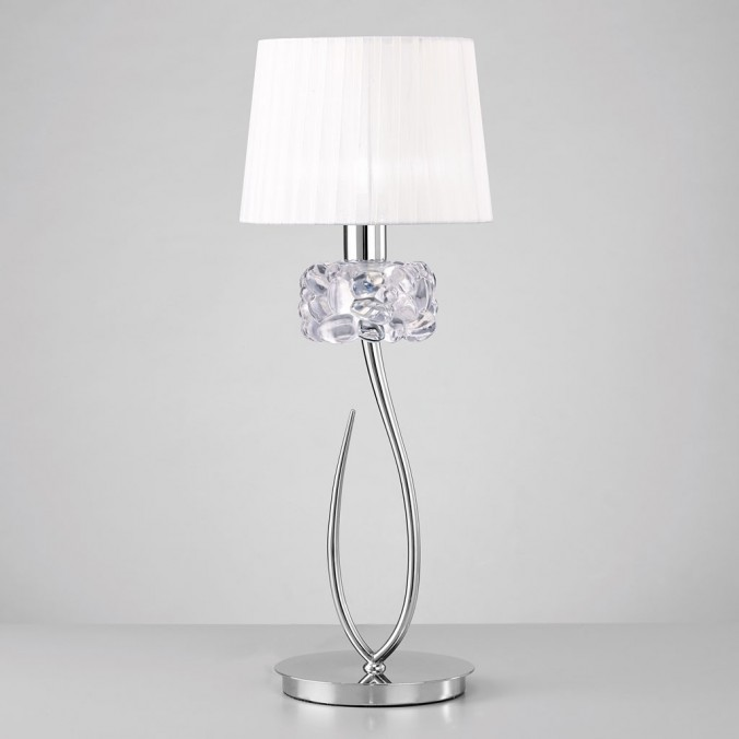 Lámpara de mesa 65cm  burbujas de cristal