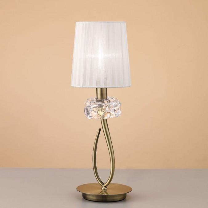 Lámpara de mesa clásica 46cm burbujas de cristal