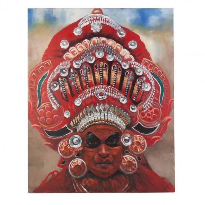 Cuadro de estilo étnico 120x150cm rojo