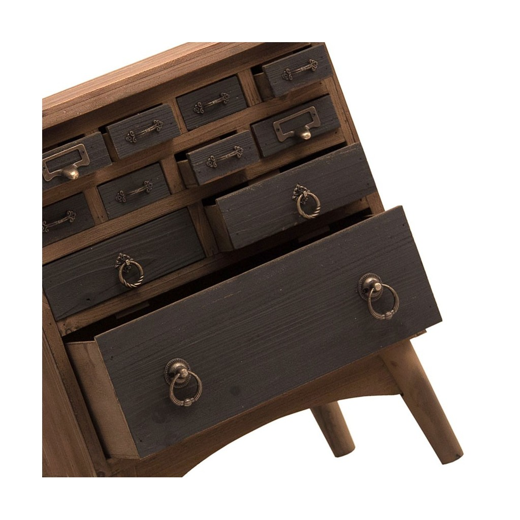 Mesita vintage 48x56cm madera de abeto erizho for Mesitas de madera