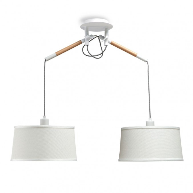 Lámpara de techo colgante 2 luces estilo nórdico