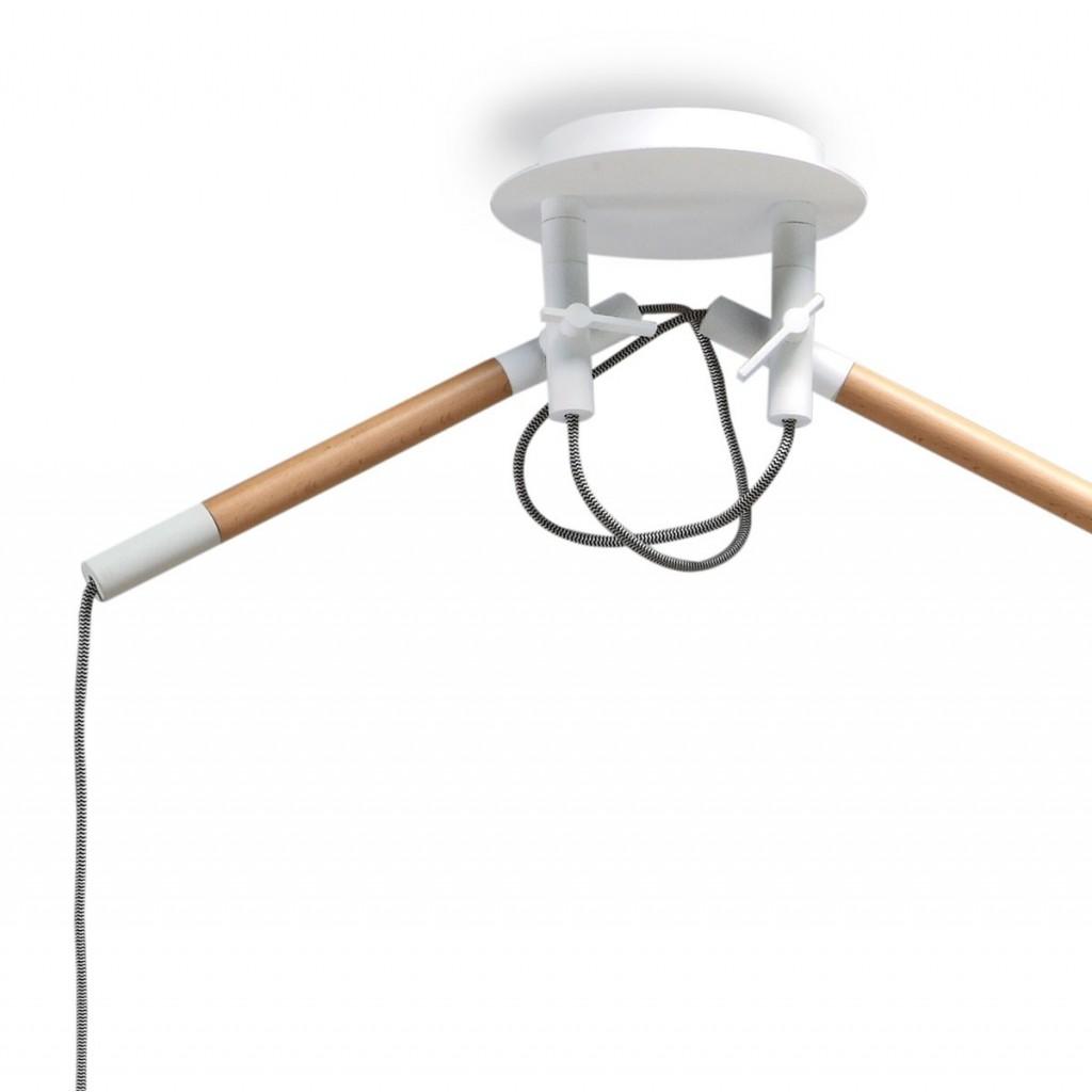 L mpara de techo colgante 2 luces estilo n rdico erizho - Estilos de lamparas de techo ...