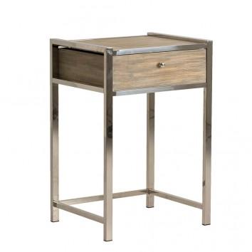 Mesita estilo nórdico 52x76cm madera y acero