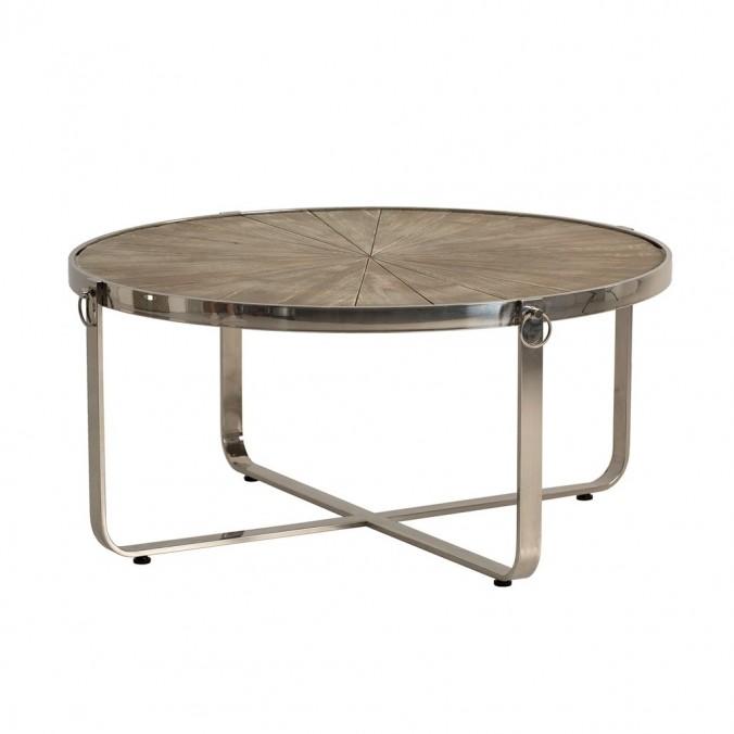 Mesa de centro estilo n rdico 98x46cm madera y acero erizho for Mesa centro estilo nordico