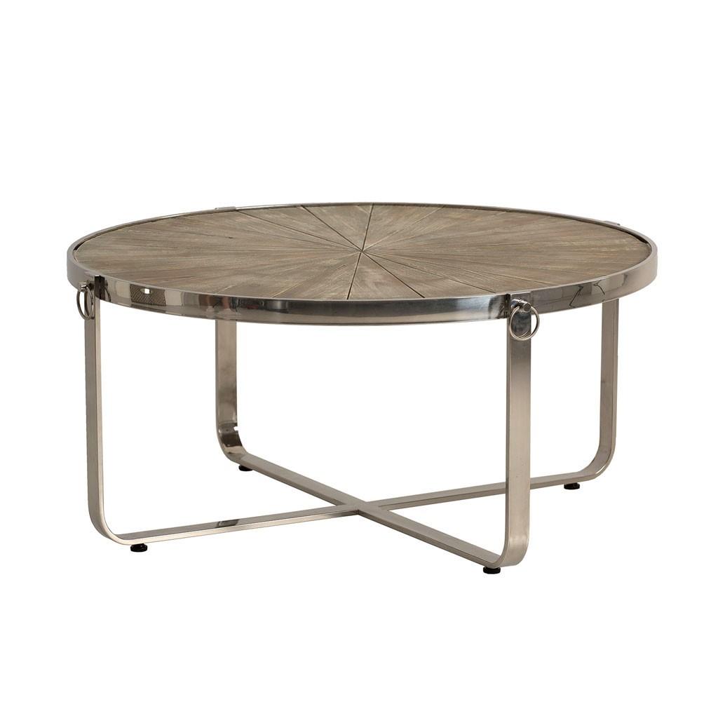 Mesa de centro estilo n rdico 98x46cm madera y acero erizho for Mesa estilo nordico