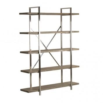 Libreria estilo nórdico 140x184cm madera y acero