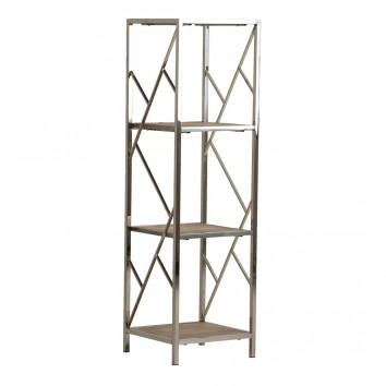 Libreria estilo nórdico 30x105cm madera y acero