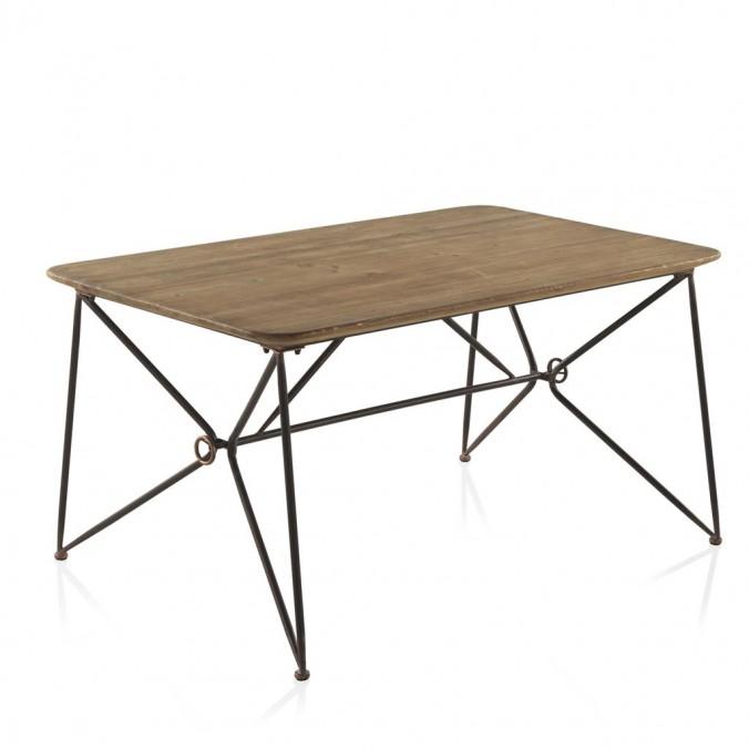 Mesa comedor 150x90 estilo vintage industrial erizho for Mesas estilo industrial