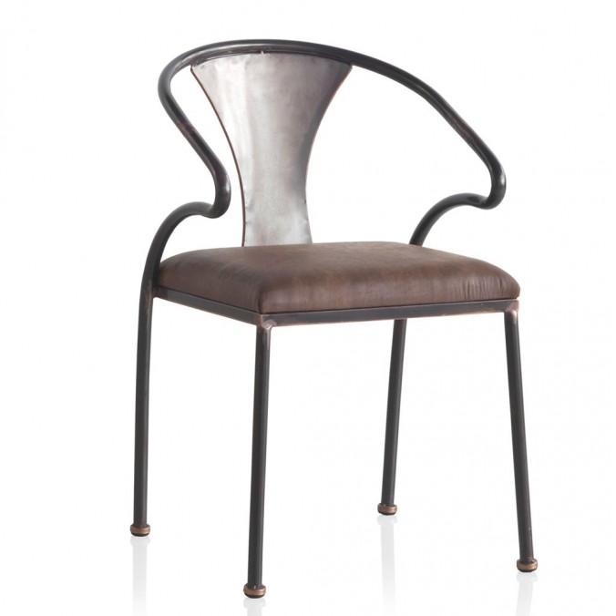 Silla estilo industrial 48x52x77h en hierro