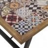 Mesa de centro 115x70cm cerámica vintage