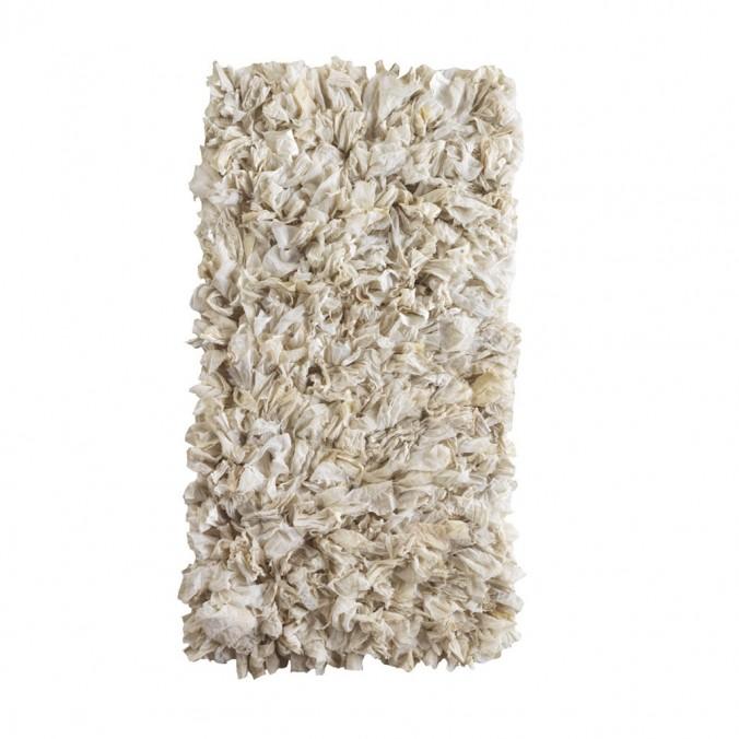 Alfombra trapillo blanco roto 60x120cm