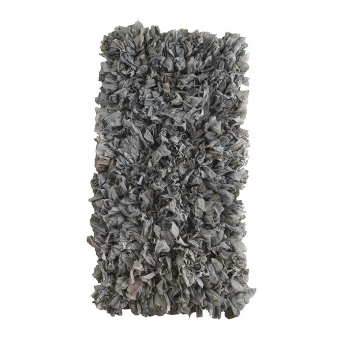 Alfombra trapillo gris claro 60x120cm