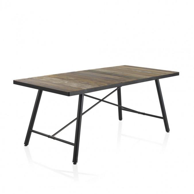 Mesa comedor 190x90 estilo vintage industrial - Erizho